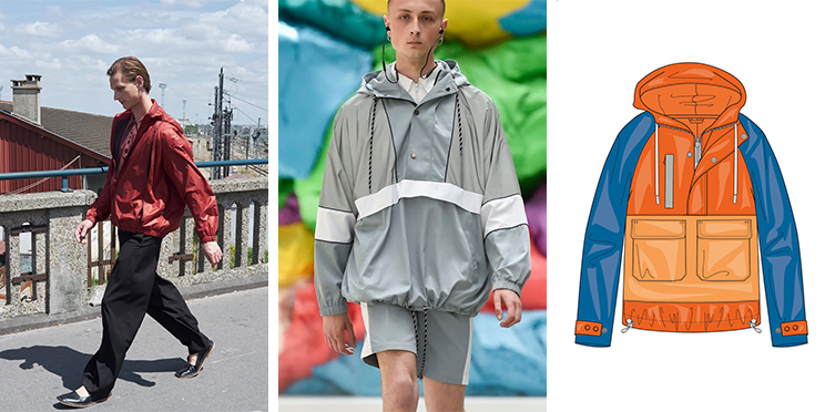 04c12ef7c47fce Lightness, movement and freshness are the ingredients that renew the solid  colors of the jacket and the raincoat.