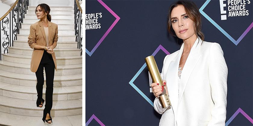 Pendant le show américain des E ! People s Choice Award 2018, la styliste  Victoria Beckham a eu l honneur de recevoir le prix de l icône de la mode. 3190f716628
